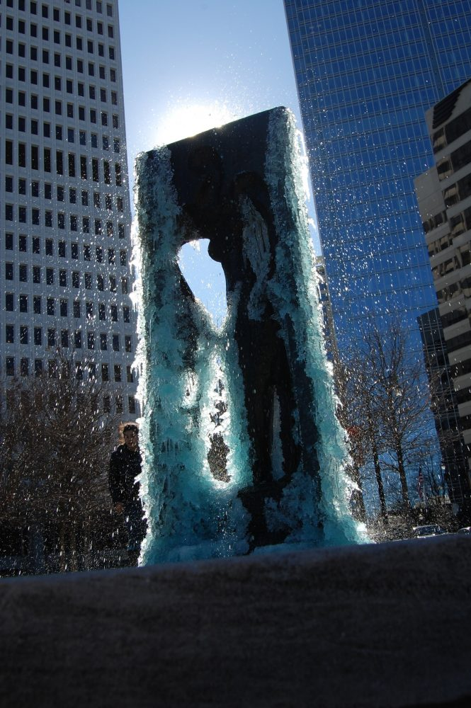 The+brief%2C+cold+temperatures+of+this+winter+brought+ice+to+Atlanta%2C+freezing+the+Colony+Square+fountain.+Simon+McLane+captured+the+moment.