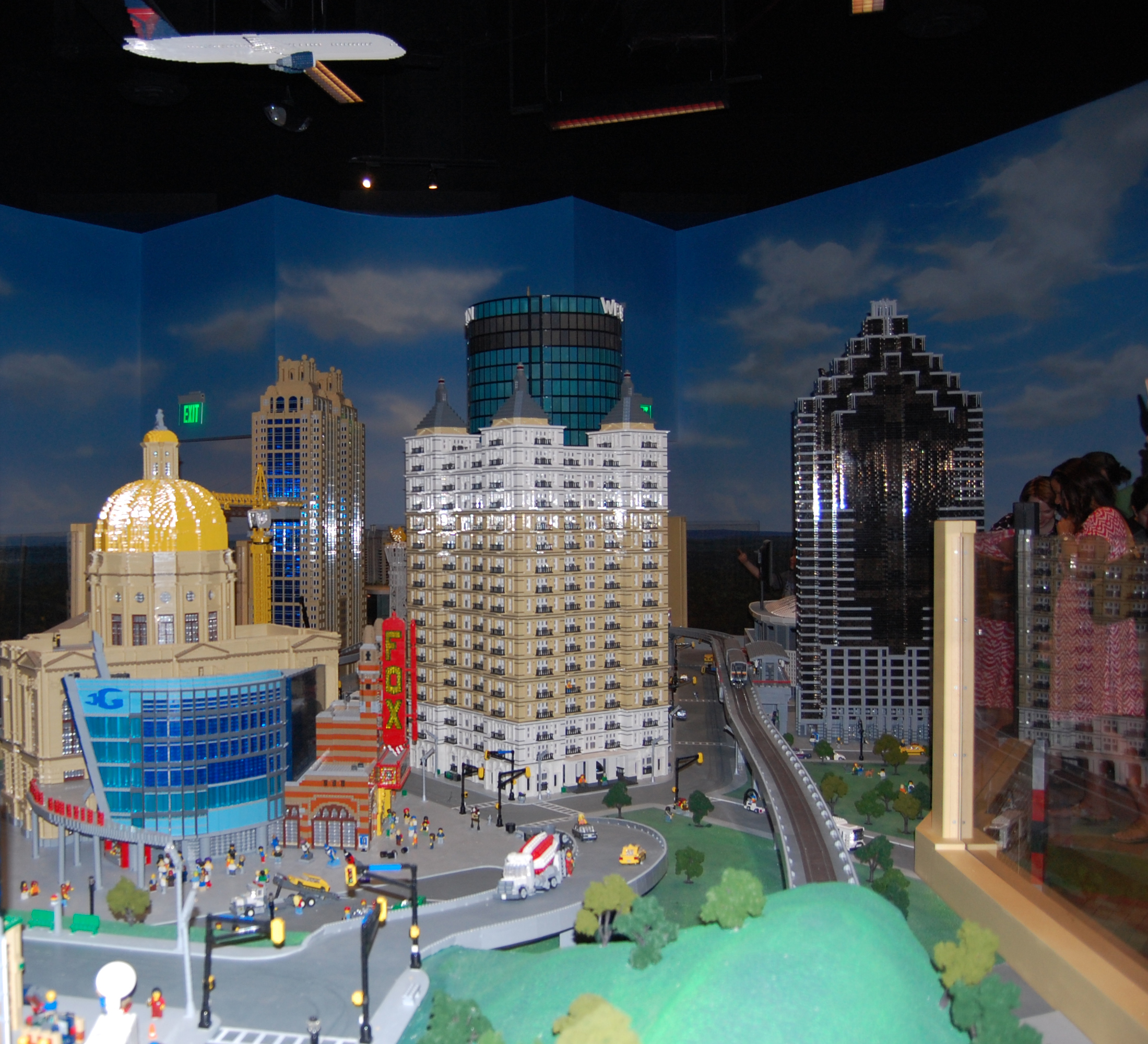 Photo by Olivia Klienman. LegoLand in Atlanta offers lots of lego fun for kids ages 3-10. One attraction at Legoland is the replica of Atlanta that was made out of 1.5 million lego pieces.