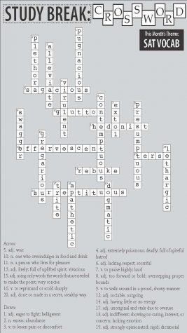 Issue One Study Break Answer Key: Crossword Puzzle