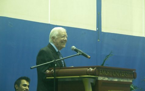 Former President Jimmy Carter visits Emory in annual meeting