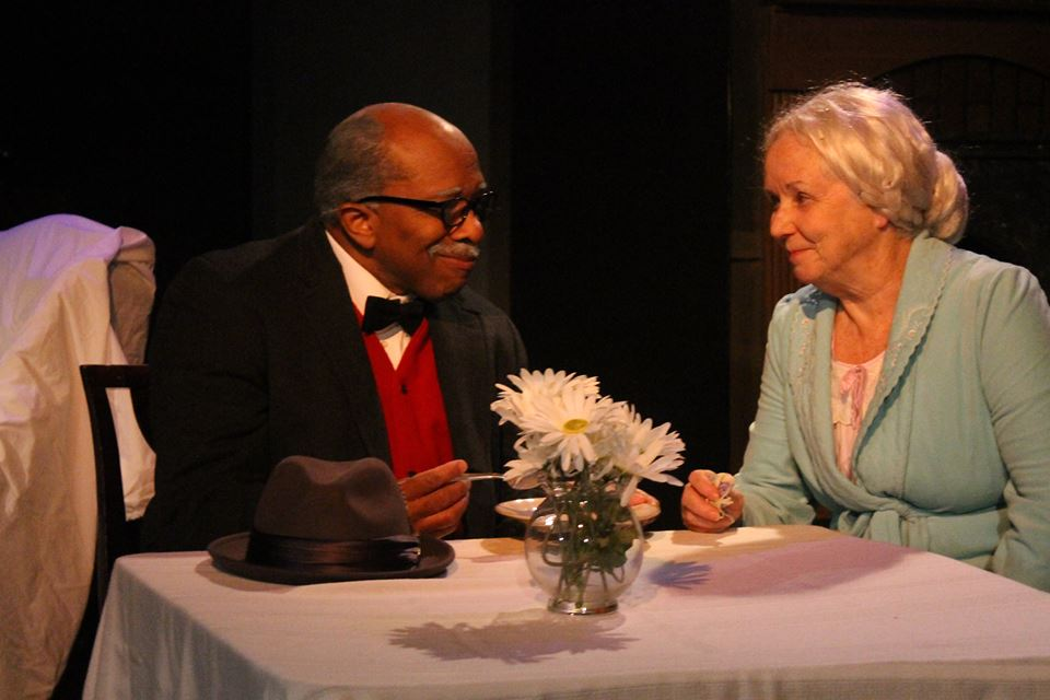 Nat Martin (Hoke) and Bobbie Elzey (Daisy) star in OnStage Atlanta's performance of 'Driving Miss Daisy.' Photo courtesy of OnStage Atlanta.