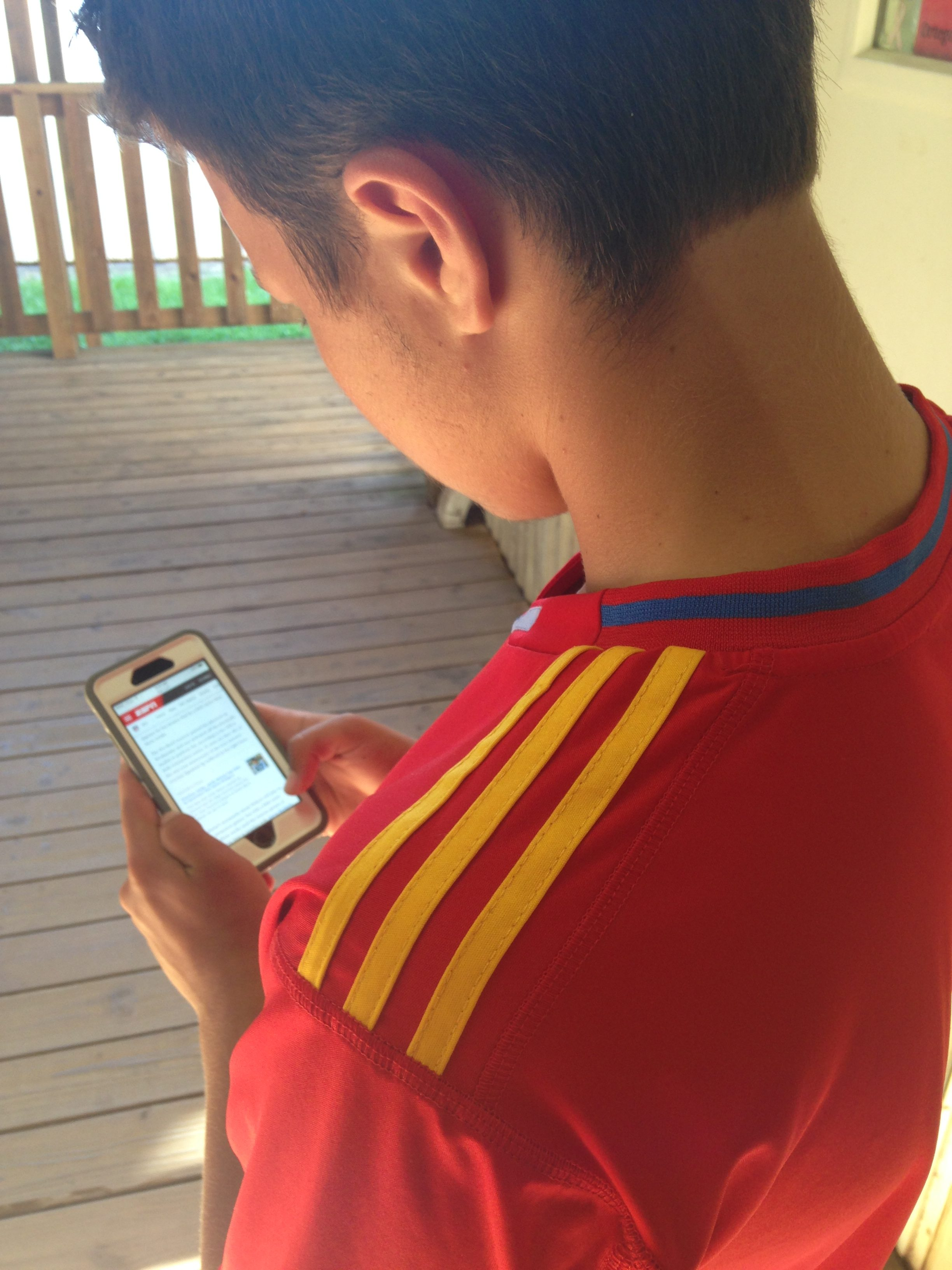 Junior Quinn Cowden researches players in preparation for the season.