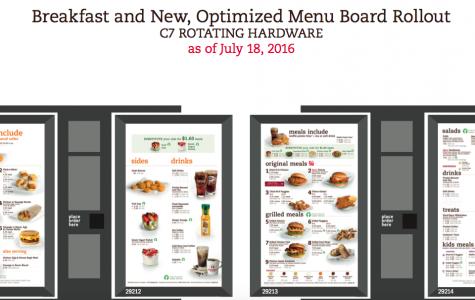 Chick-fil-A serves up new menu design