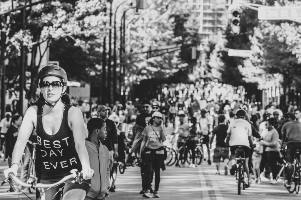 During Streets Alive's Oct. 23 event, Atlantans gathered to bike, skateboard, walk and roller blade through various parts of the city. Streets Alive aims to promote alternate transportation options, other than cars.