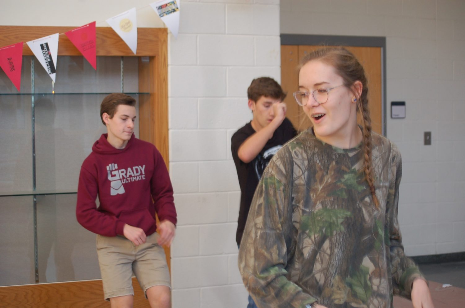 """DANCING THROUGH SCHOOL: Junior Ebet Lansing instructs students in the Musical Theater II class  for the upcoming performance of """"Grease."""" Lansing has taken on the role of choreography for the production."""