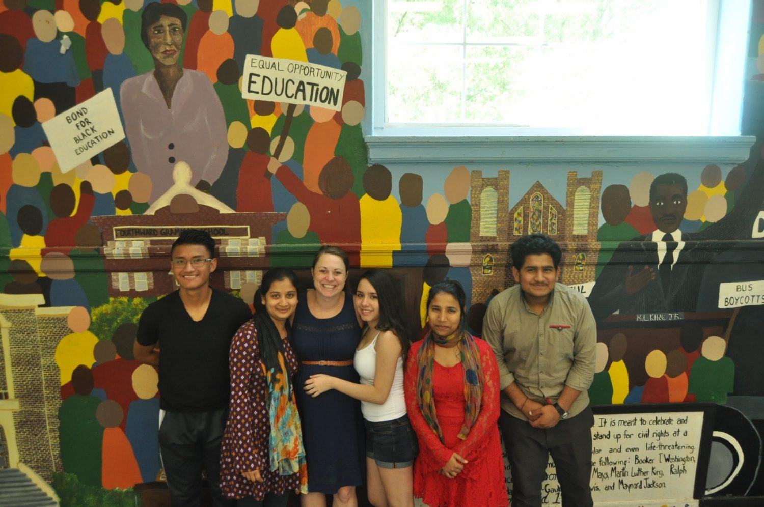 International Grady students enrolled in Kathy Maryska's English as a Second Language Class adjust to life in the United States.