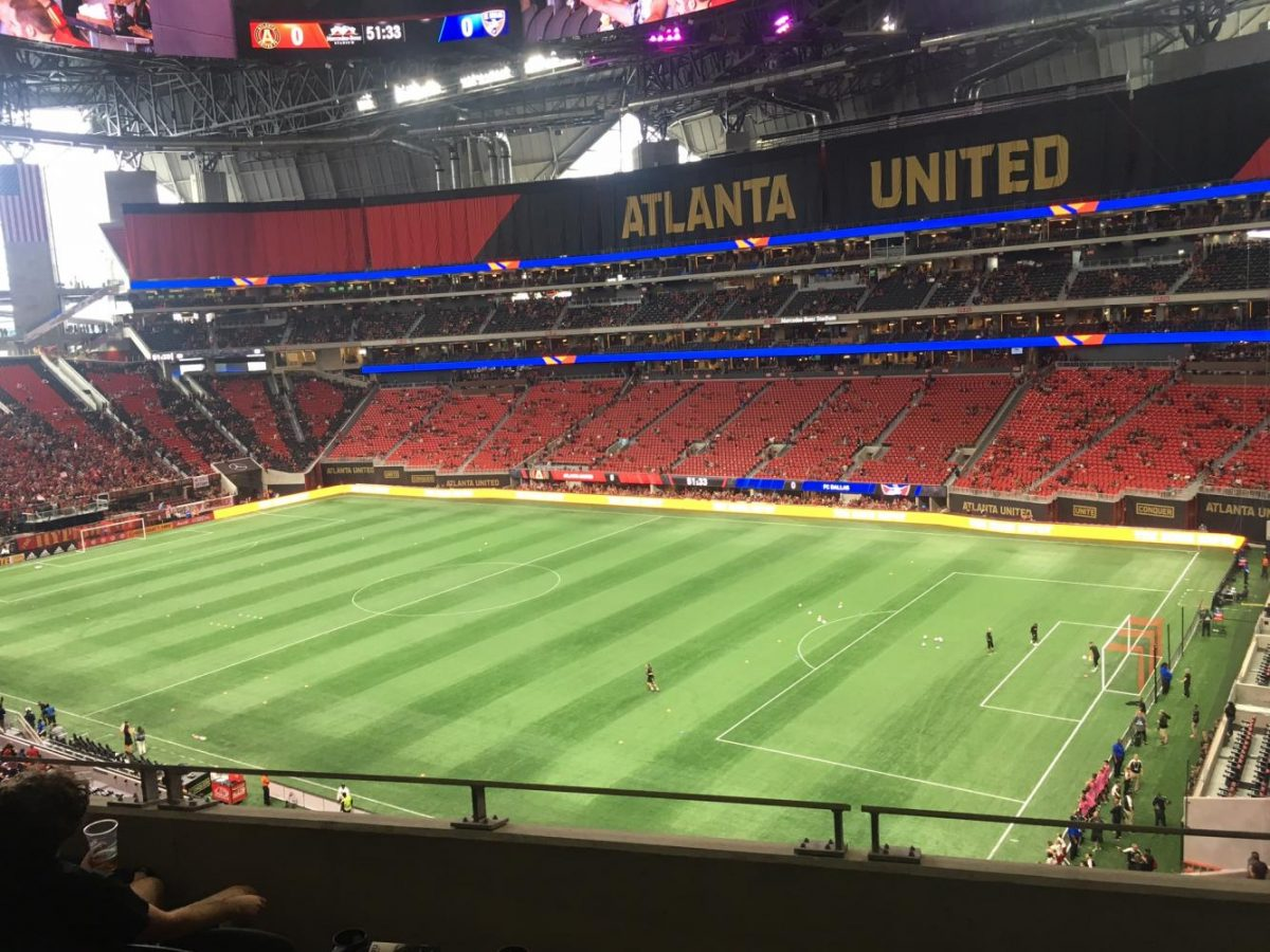 Mercedes-Benz stadium before Atlanta Uniteds first game there.