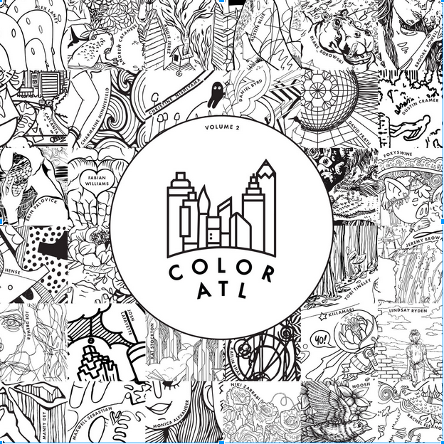 The cover for ColorATL Volume 2 previews the works of artists inside. (Image courtesy of ColorATL)