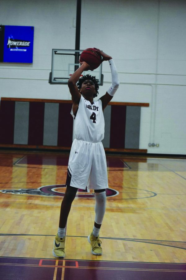 Sophomore Jermontae Hill shoots a free throw in Gradys 67-45 home win against Decatur on November 11th.