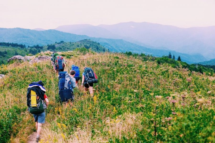 Students at The Outdoor Academy go on three treks throughout the semester.