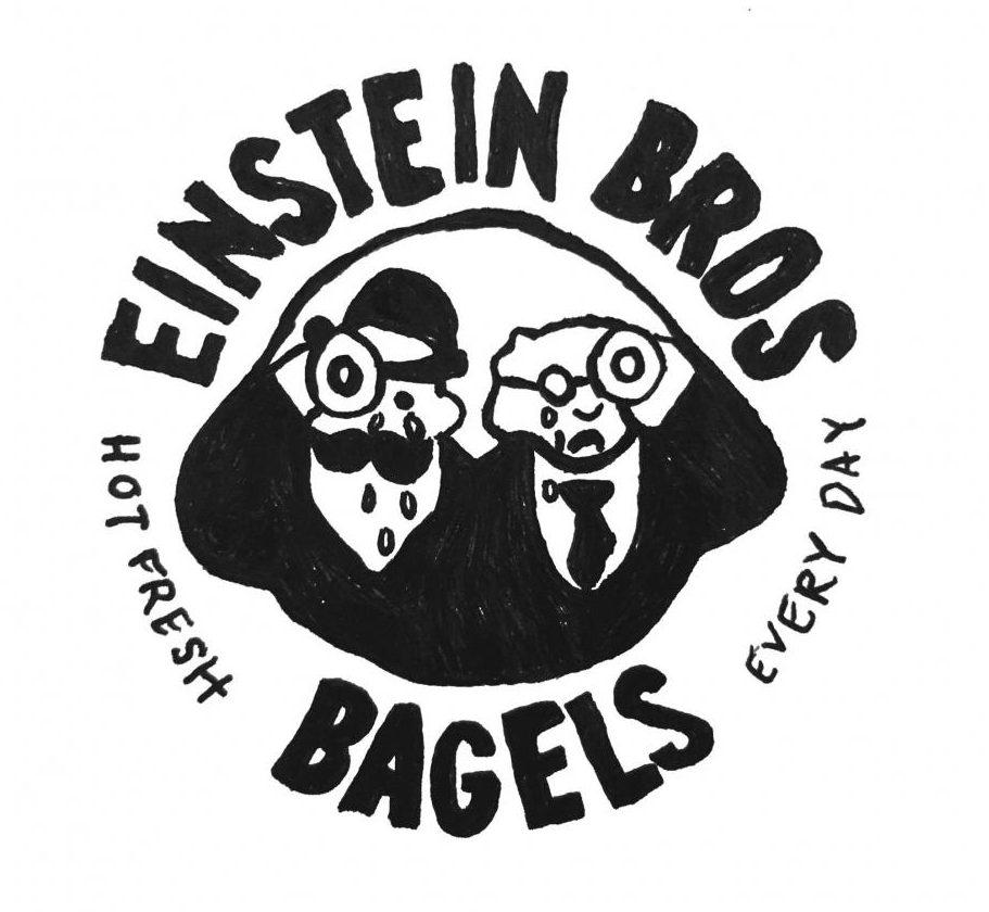 Graphic by Kiki Soto illustrating the Einsteins Bros Bagels logo