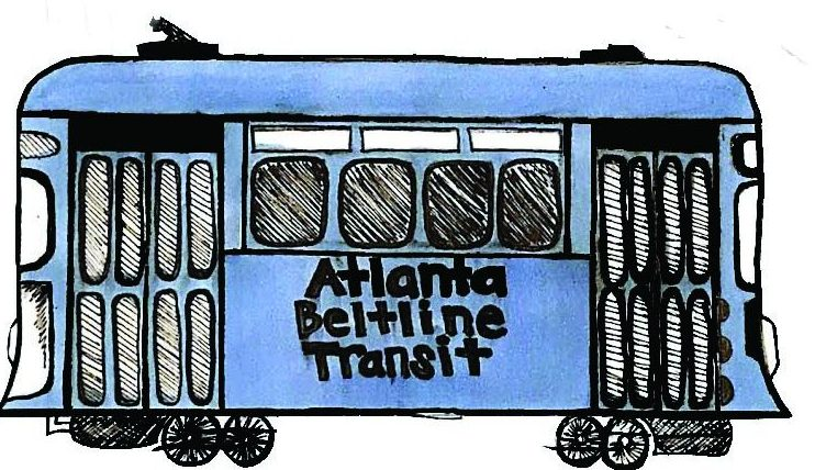 Illustration+by+Ellie+Werthman+of+the+Atlanta+Beltline+Transit