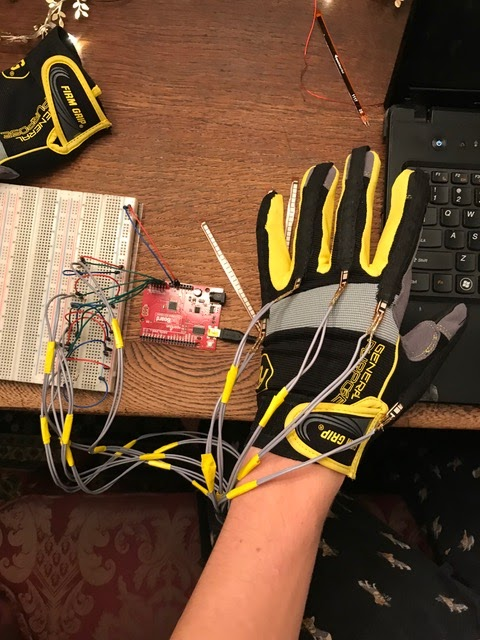 A+HELPING+HAND+Junior+Ethan+Damiani+wears+a+glove+he+built+that+detects+hand+motion+when+speaking+in+sign+language.+That+information+is+then+converted+into+standard+English.