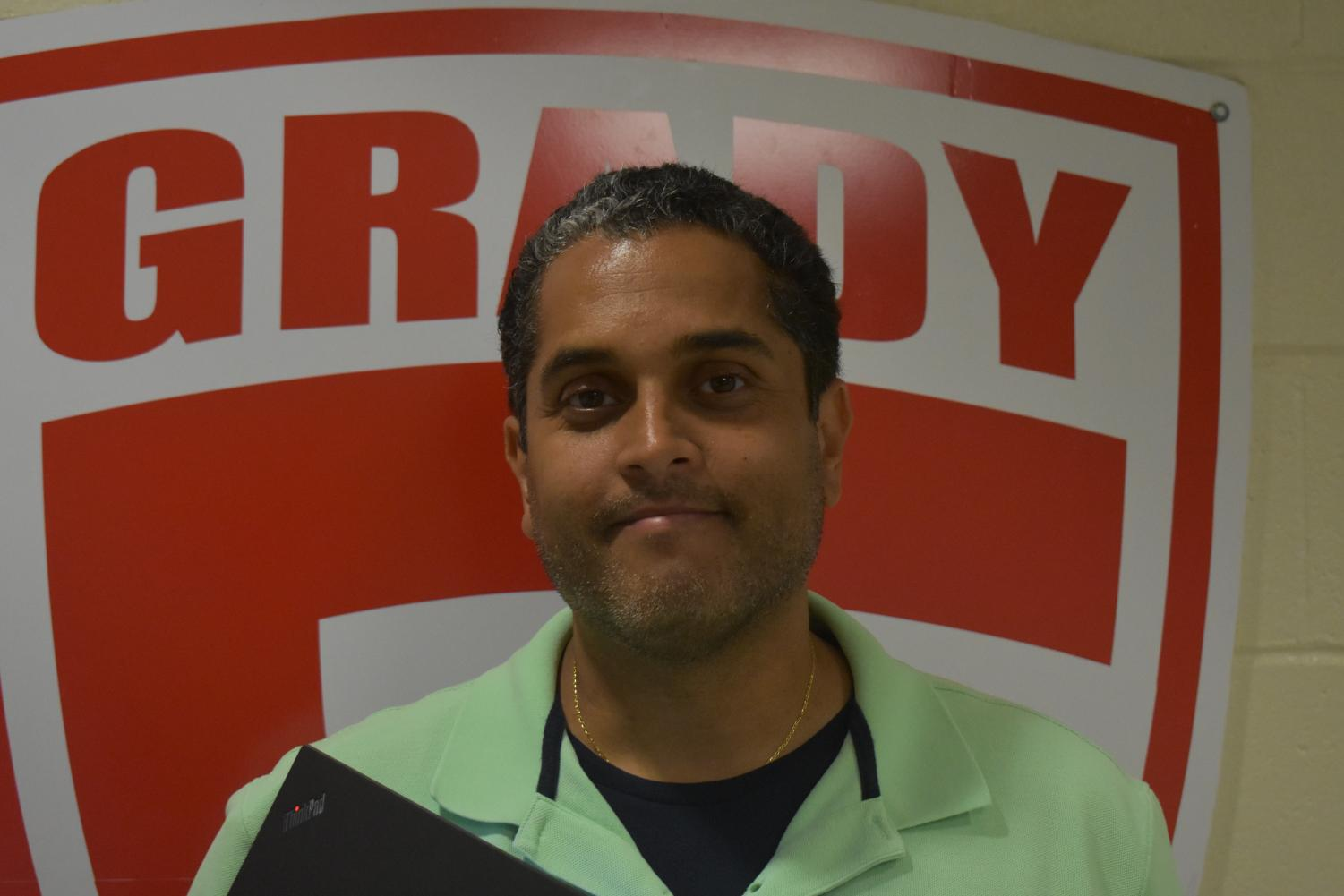 Byron Barnes, school business manager, lives 13 miles away from Grady.