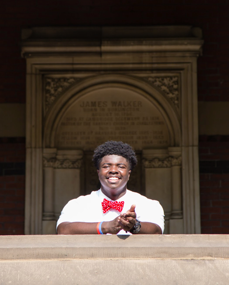Senior Jordan Thomas  at Harvard University where he competed this year as part of the Harvard Debate Council's summer residency tournament.