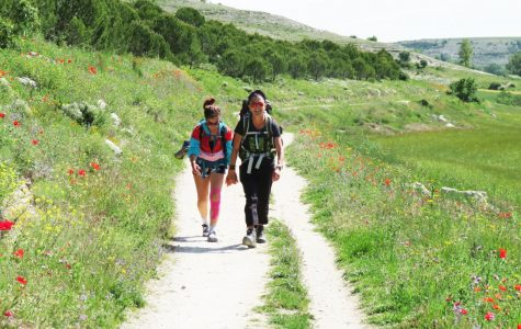 Student and mother make memories backpacking in Spain