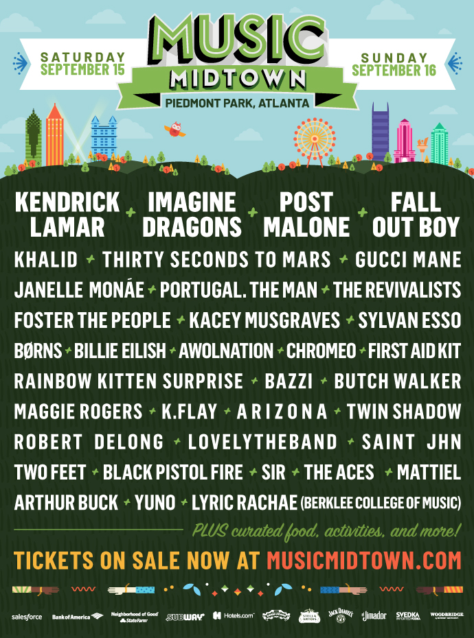 The Music Midtown 2018 lineup.