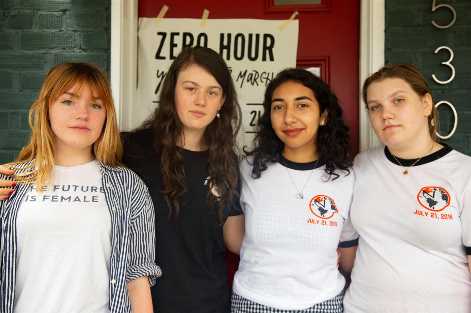 Esme Rice (left) stands with other members of the Zero Hour team. (Courtesy of Greenpeace)
