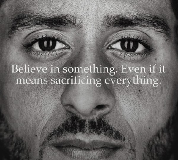 Colin Kaepernick is the face of a new advertisement for Nike in honor of the 30th anniversary of the