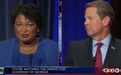 CLASH OF THE TITANS: Stacey Abrams and Brian Kemp faced off in a debate Oct. 23.