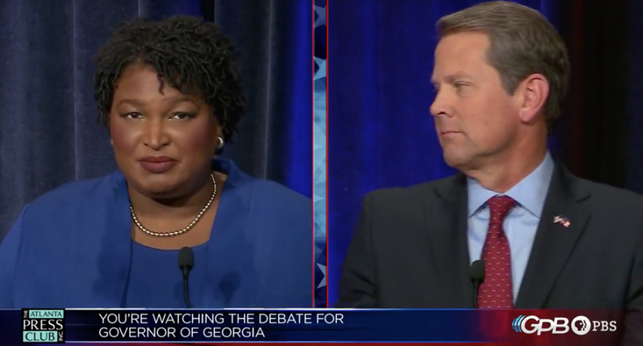 CLASH+OF+THE+TITANS%3A+Stacey+Abrams+and+Brian+Kemp+faced+off+in+a+debate+Oct.+23.