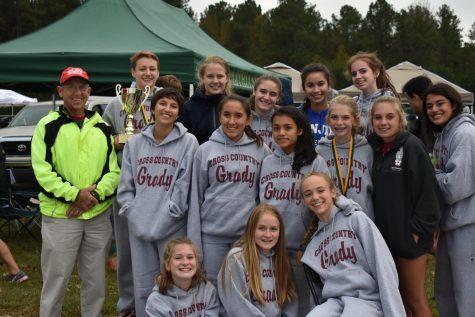 Girls region cross country champions, boys runner-up