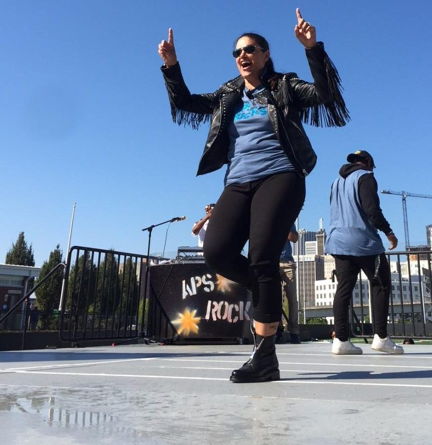 Superintendent Dr. Meria Carstarphen showed off some moves at State of District Address.