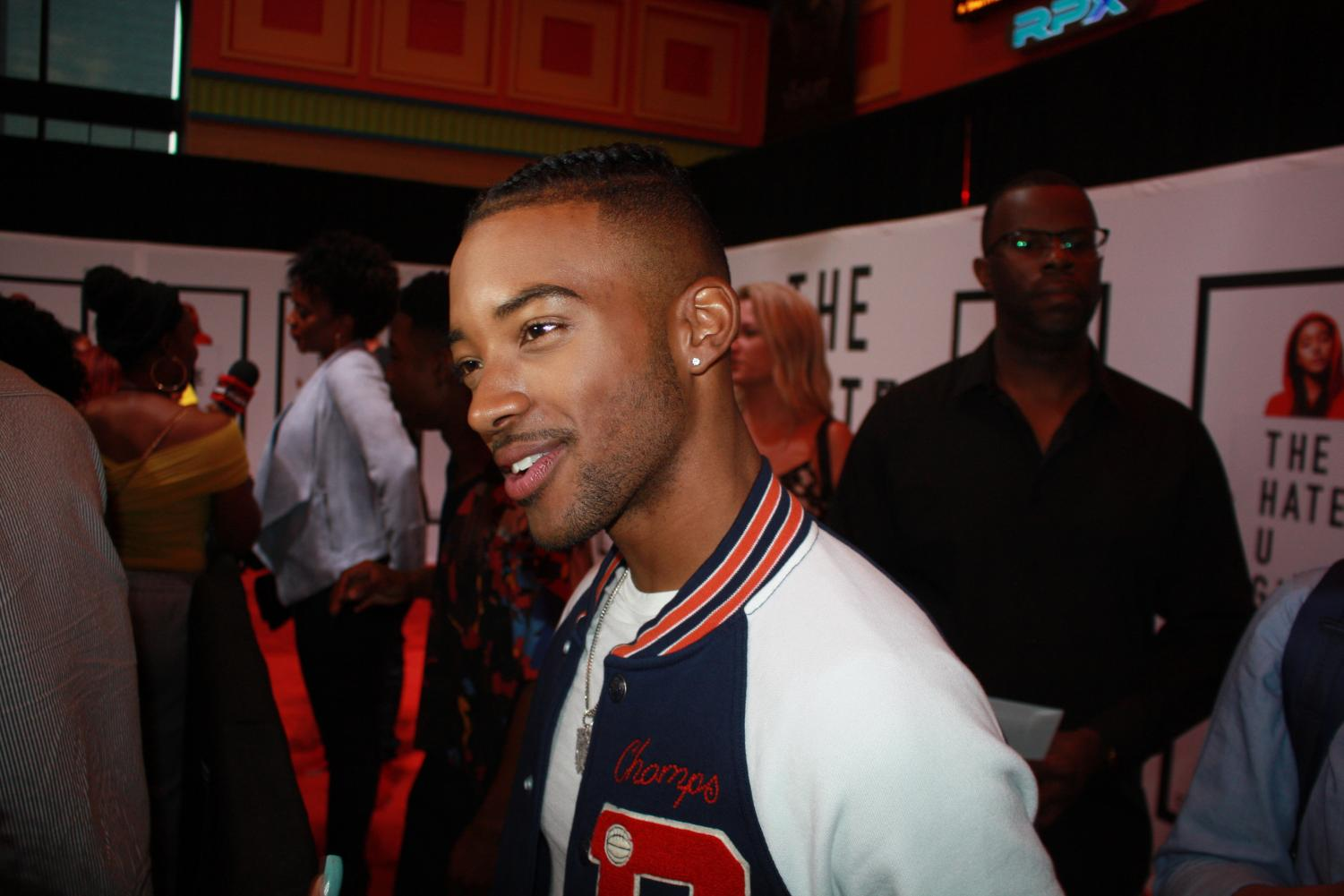 At the premiere of The Hate U Give, Algee Smith, who plays Khalil, answers questions about  eliminating microaggressions.
