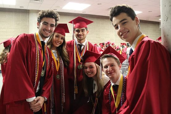 Several members of the Class of 2018 just prior to graduation on May 24, 2018 at the Georgia World Congress Center.