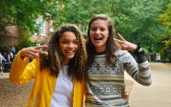Nadia McGlynn and Mia Prausnitz-Weinbaum, juniors