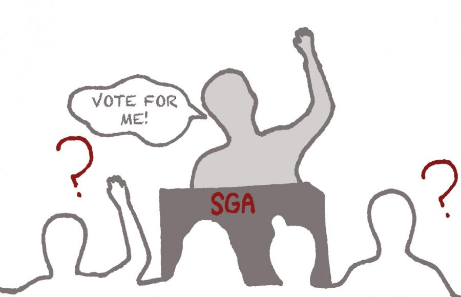 Students+are+often+unaware+of+what+each+SGA+candidate+stands+for.+