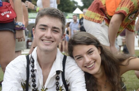 TWINNING: Jack and Kaitlin Palaian display their twin bond at Music Midtown this past September.