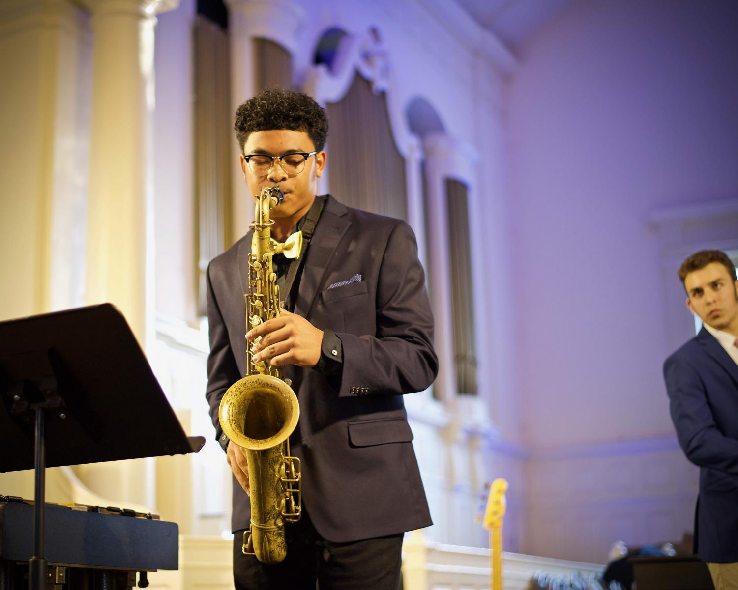 LOVING THE JAZZ: Junior Jay Hammond performs on the saxophone while at the Governor's Honors Program this past summer for jazz.