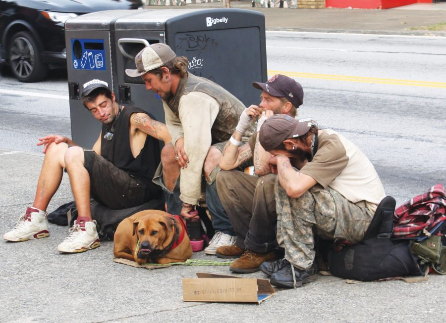 Little Five Points is home to many homeless individuals, which concerns property owners and surrounding residents.
