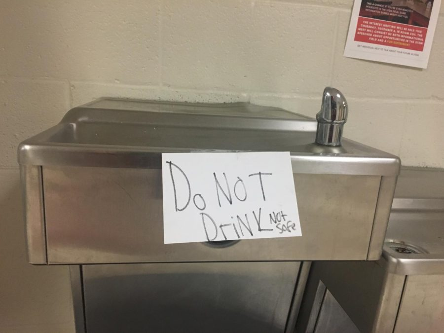 Students+are+barred+from+using+school+water+fountains.