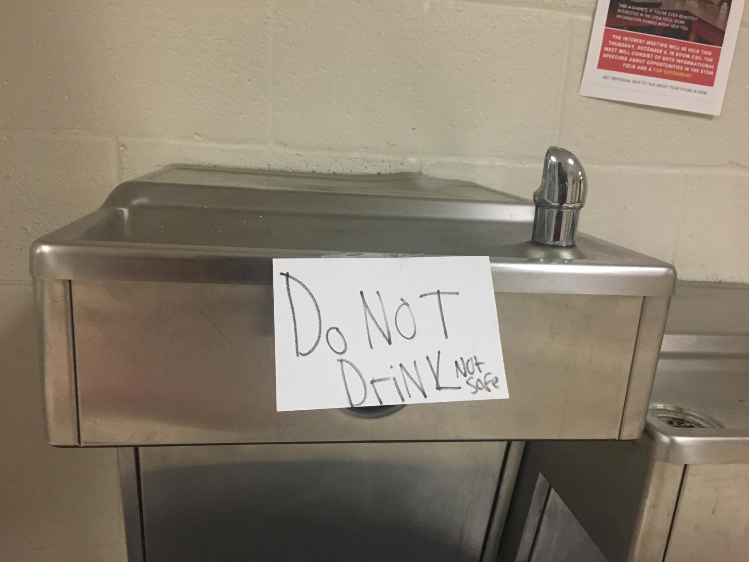 Students are barred from using school water fountains.