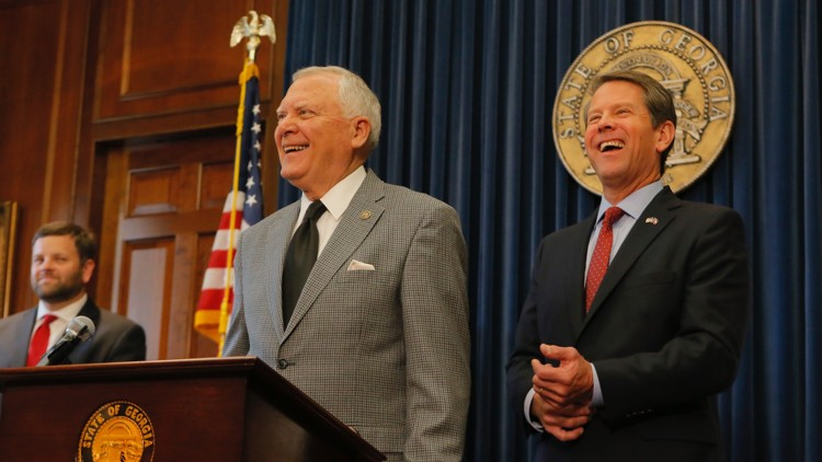 Former+Secretary+of+State+Brian+Kemp+began+the+transition+process+to+become+Georgia%27s+83rd+governor+with+the+support+of+residing+Gov.+Nathan+Deal+%28left%29.