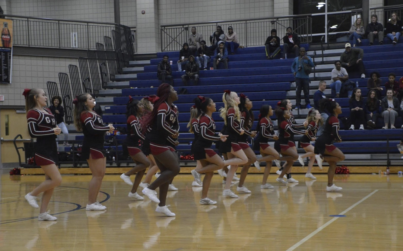 "Grady Cheerleading team was suspended by Principal Dr. Betsy Bockman after reports of ""serious situations of behavior."""