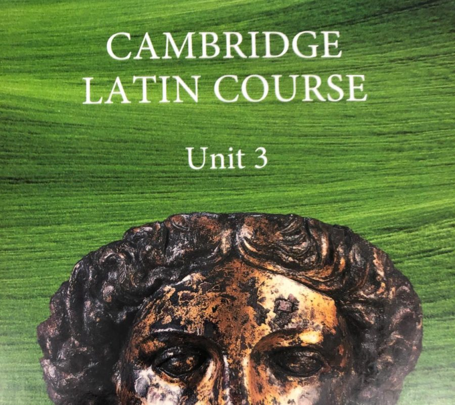 Sophomores at Grady use the Cambridge Latin Course Unit 3 book for Latin II.