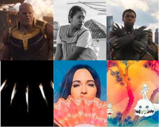 Avengers: Infinity War, Roma, and Black Panther were a few of Nexus' favorite movies of the year. Black Panther: The Album, Golden Hour, and Kids See Ghosts were some of the year's notable albums.