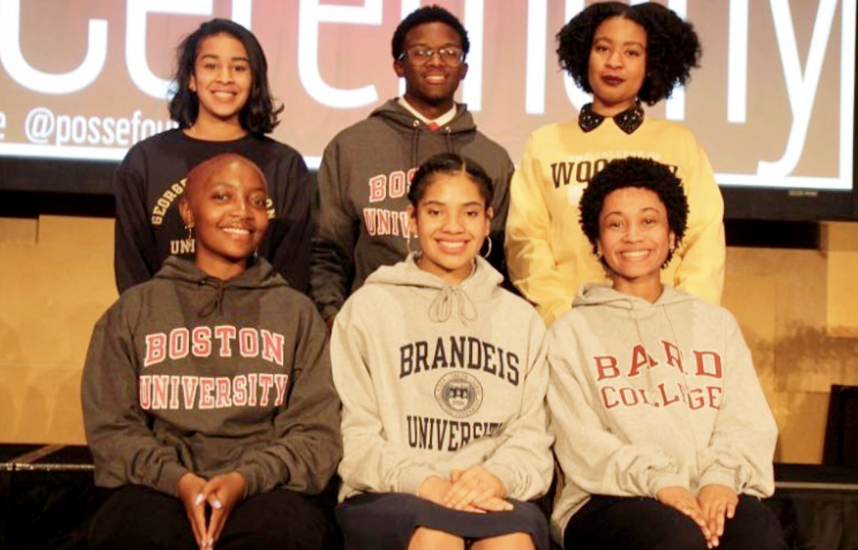 Four of the six students to earn the posse scholarship from Atlanta Public Schools came from Grady. (Top left) Avery Alford, (top right) Taylor Jackson, (bottom left) Shamayan Sullivan, and (bottom center) Keziah Corbett received full, merit-based scholarships to each of their respective schools.
