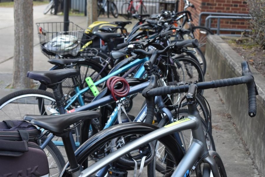 Many students rely on the bike rack to lock their bikes, making it a necessity for racks and other supplies to be working.