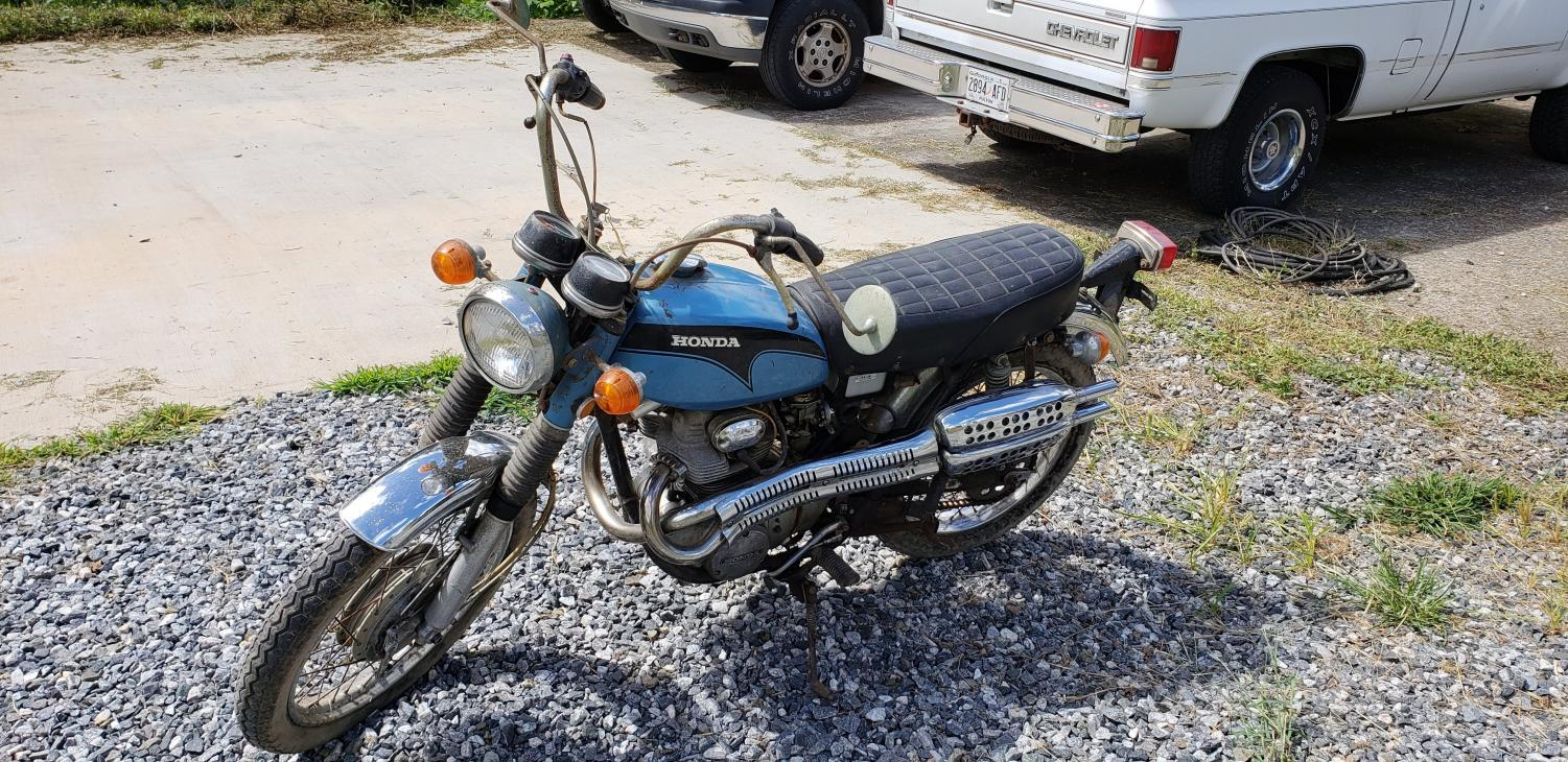 Mechanics Club, founded by junior Alek Bruckman, focuses not only on automobiles but also on motorcycles. This Honda motorcycle is currently being restored and repaired by club members.