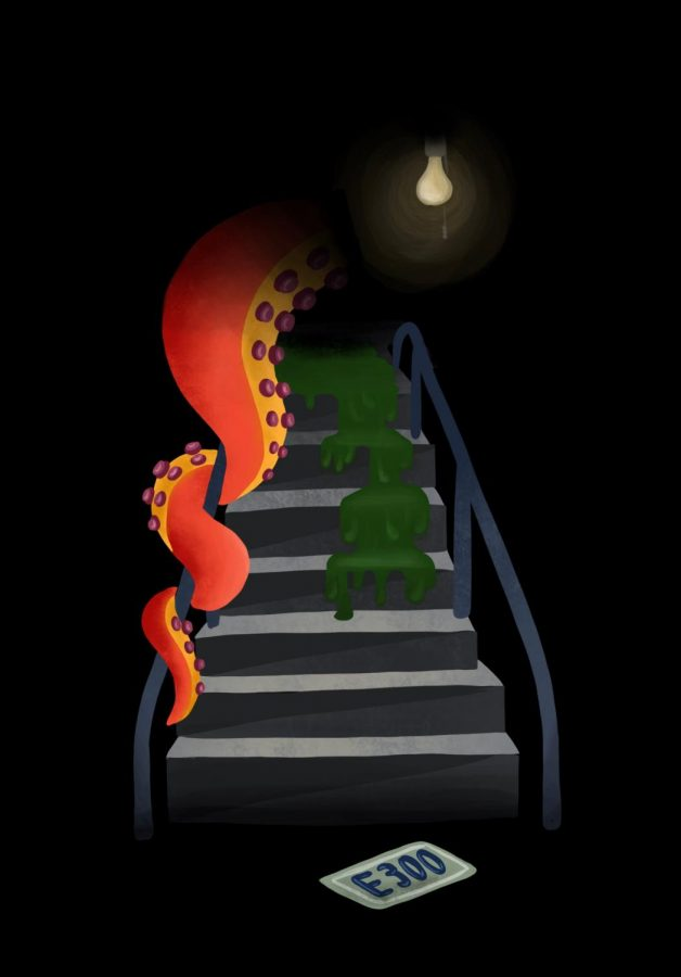 Ominous E300 staircase unnerves fearful freshmen