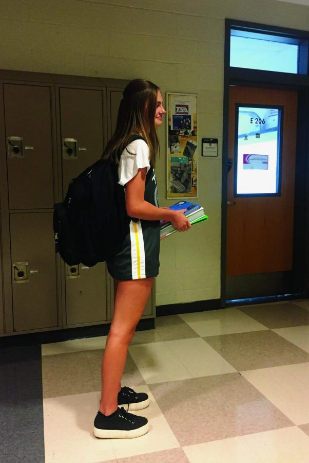 Cutting it Close: Jordyn Bumgardner struggling to make it to class and to keep up with all of her school work.