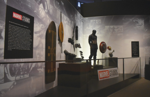 Marvel Studios donated a collection of objects belonging to different characters throughout the films.
