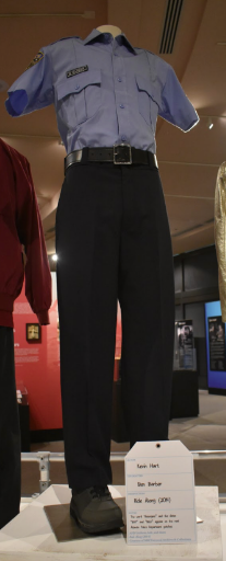 From the movie Ride Along, Kevin Hart wore this police uniform as the character Ben Barber.