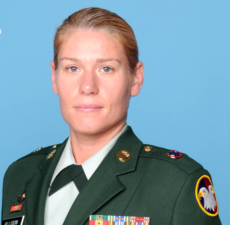 Sergeant+First+Class+Kim+Allison+is+the+new+JROTC+instructor.+Her+presence+at+Grady+was+brought+on+by+a+country+wide+initiative+to+have+more+female+instructors+in+the+program.