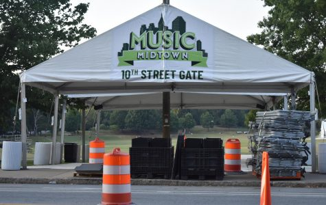 Pictured is the Music Midtown 10th street entrance directly across from the Grady arch.