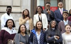 Students at the 11th Circuit U.S. Court of Appeals after hearing Joseph Bell Jr. argue to get the grand jury records from the Moore's Ford lynchings. The lynchings occurred in 1946, and no one was charged for them.